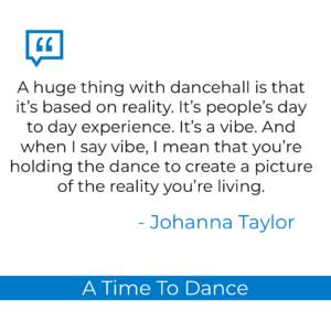 Johanna Taylor dancehall quote
