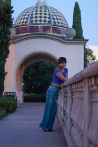 Elizabeth Kilrain poses at Balboa Park